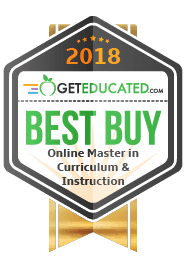Badge - Best Buy Online Master in Curriculum and Instruction - GetEducated.com 2018