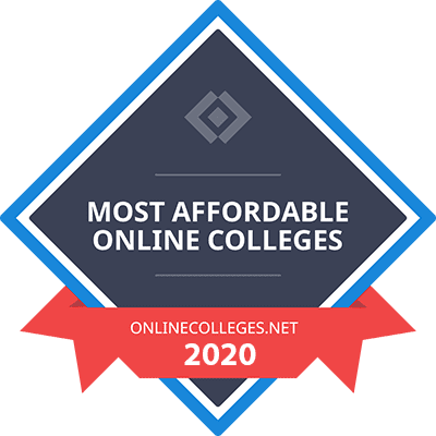 Badge - Most Affordable Online Colleges - OnlineColleges.net 2020