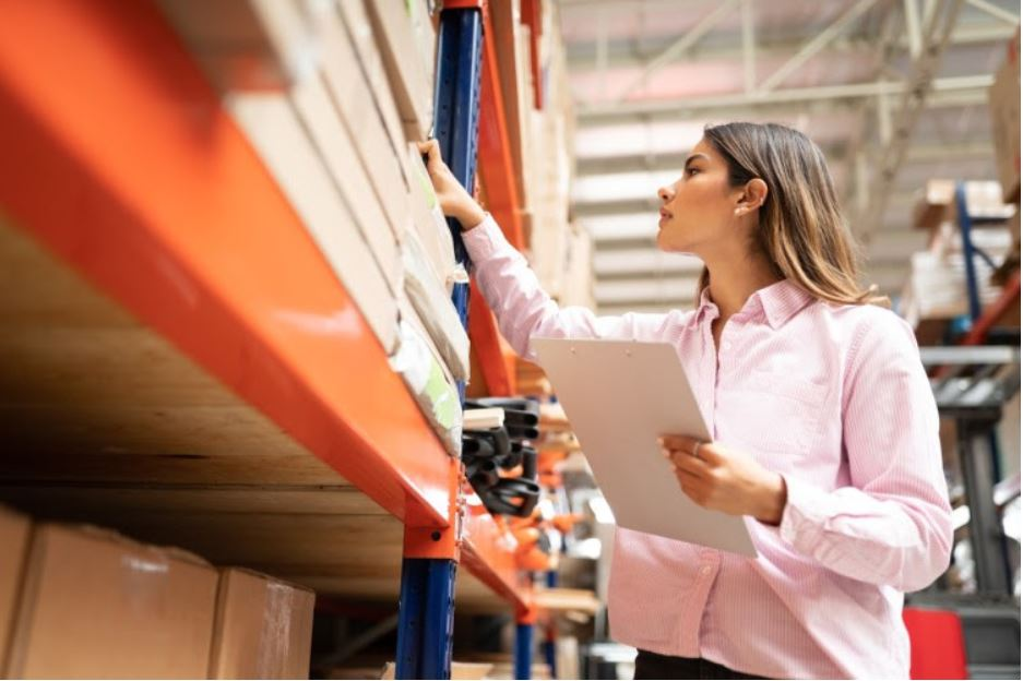 A purchasing manager evaluates inventory quality.